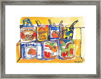 Pasta Sauce Framed Print by Vannucci Fine Art