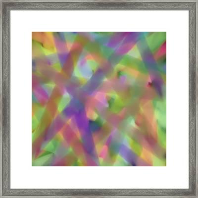 Pastel Beams Framed Print by Bonnie Bruno