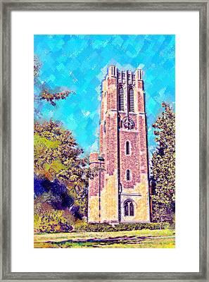 Pastel Beaumont Tower 2 Framed Print by Paul Bartoszek