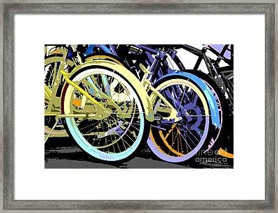 Pastel Bicycle Pop Art Framed Print