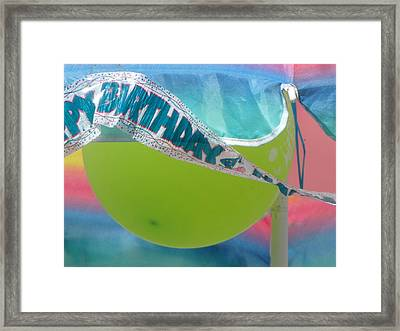 Pastel Celebration Framed Print