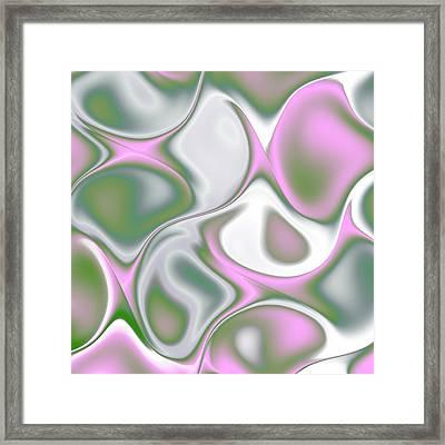 Pastel Colored Teardrop Fractal Framed Print