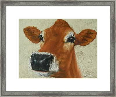 Pastel Cow Framed Print
