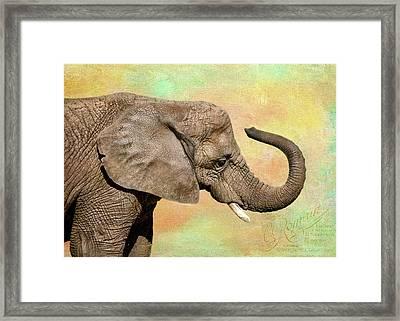 Pastel Elephant Framed Print