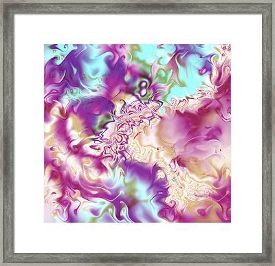 Pastel Fractal Framed Print by Gina Lee Manley