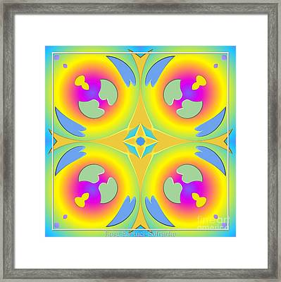 Pastel Hearts Warp 2 Framed Print by Rose Santuci-Sofranko