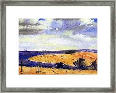 Pastel Landscape Framed Print by Jon Shepodd