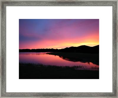 Framed Print featuring the photograph Pastel Sunset by Bill Lucas
