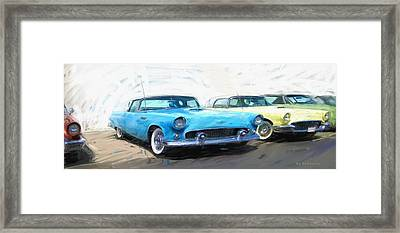 Pastel T-birds Framed Print by RG McMahon