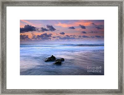 Pastel Tides Framed Print by Mike  Dawson