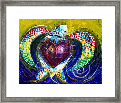 Pastel Turtle Heart Framed Print
