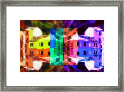 Pastel Windows Framed Print by Steve K