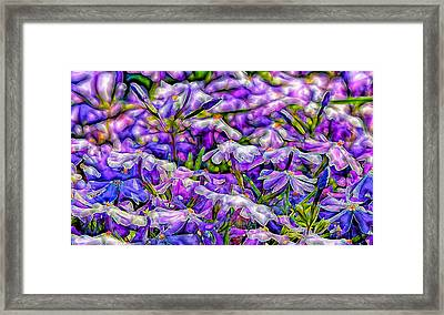 Pastelated Florets Framed Print by Bill Tiepelman