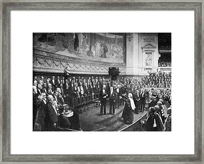 Pasteur's Jubilee Celebrations, 1892 Framed Print by