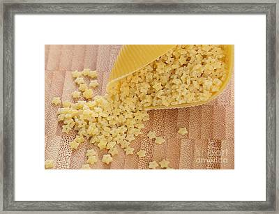 Pastina And Conchiglioni Framed Print by Photo Researchers, Inc.