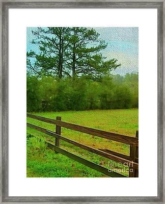 Pastureland Framed Print by Judi Bagwell