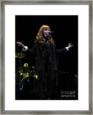 Pat Benatar Live In Melbourne Framed Print by David Peters