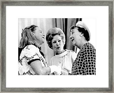 Pat Nixon, Introduces Martha Mitchell Framed Print by Everett