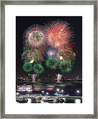Pataya City Firework Festival Framed Print by Anek Suwannaphoom