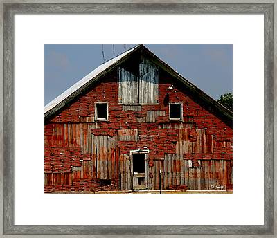 Patch Work Puzzle Framed Print by Ed Smith