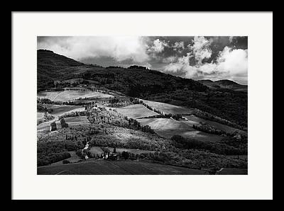 Chianti Hills Photographs Framed Prints