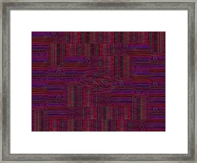 Patchwork Rift Framed Print
