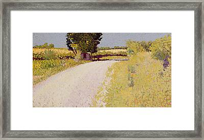 Path In The Country Framed Print by Charles Angrand