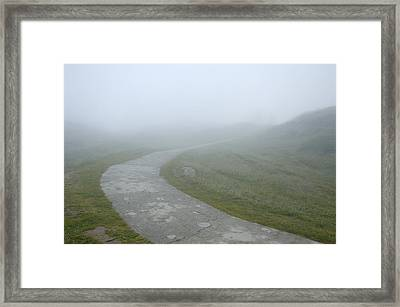Path In The Fog Framed Print by Matthias Hauser