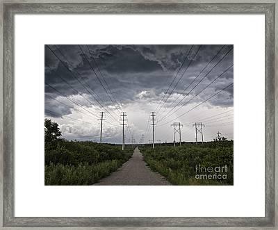 Path Of Doom Framed Print by Joe Gee