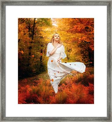 Path Of Fall Framed Print by Mary Hood