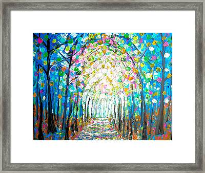 Path Through The Forest Framed Print