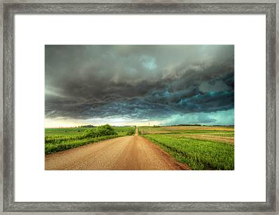 Path To Chaos Framed Print by Evan Ludes