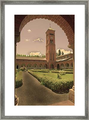 Path To Jesus Framed Print by Miguel Capelo