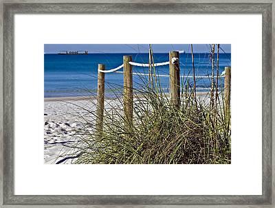 Framed Print featuring the photograph Path To The Beach by Susan Leggett