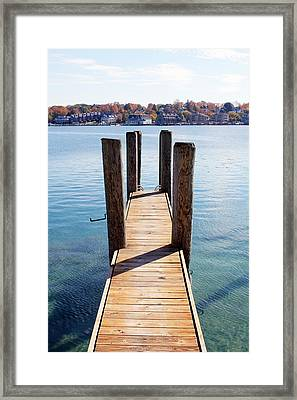 Path To The Harbor Framed Print by Sheryl Burns