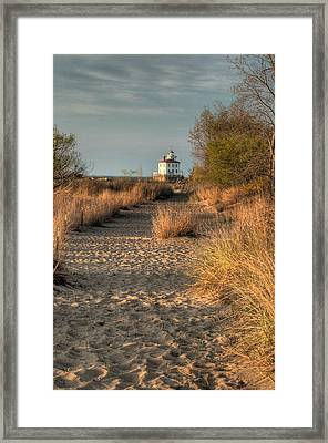 Path To The Light Framed Print by At Lands End Photography