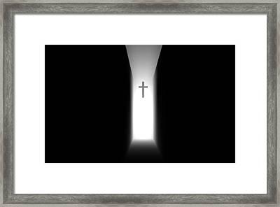 Path To The Light Framed Print by Teddy Keitel