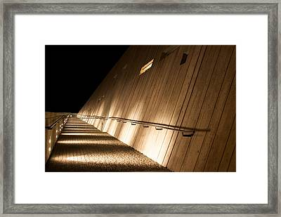 Framed Print featuring the photograph Pathway Of Lights by JM Photography