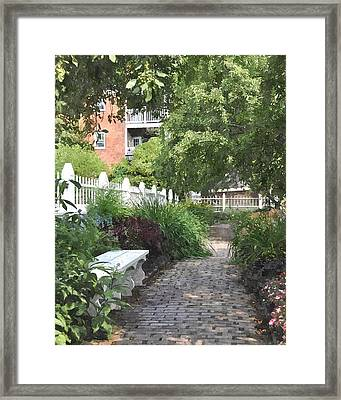 Pathway Pwc Framed Print