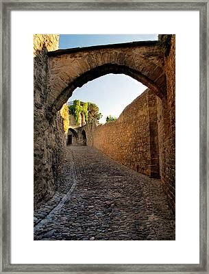 Framed Print featuring the photograph Pathway Through Gordes France by Dave Mills
