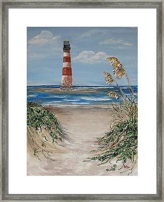 Framed Print featuring the painting Pathway To Morris Island by Lyn Calahorrano