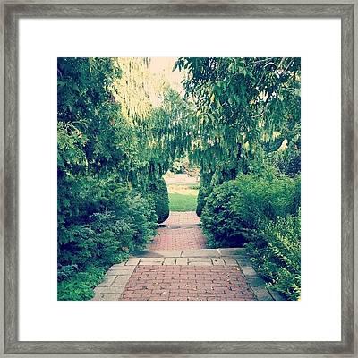 #pathway #toronto #park #cobblestones Framed Print