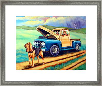 Patience And Virtue Framed Print by Lyn Cook