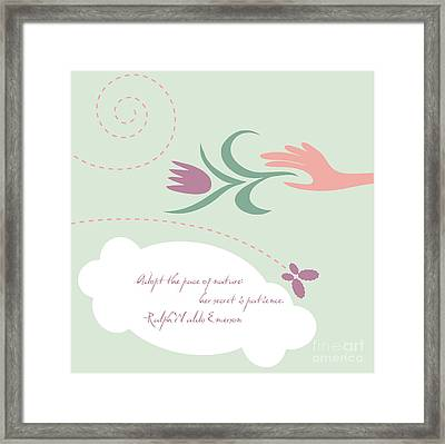 Patience Framed Print by HD Connelly