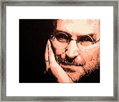 Patience Look Of Steve Jobs Framed Print