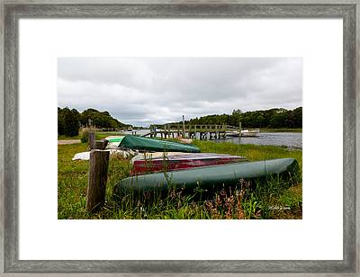 Patiently Waiting Framed Print by Michelle Wiarda