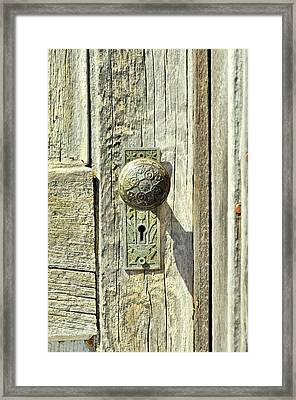 Framed Print featuring the photograph Patina Knob by Fran Riley