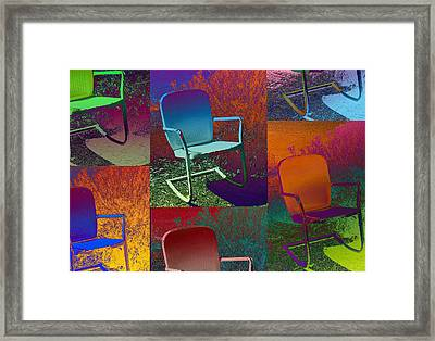 Framed Print featuring the photograph Patio Chair by David Pantuso
