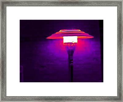 Patio Heater, Thermogram Framed Print