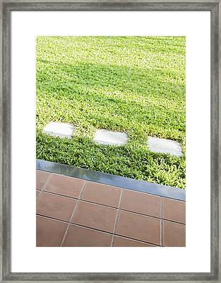 Patio Stepping Stones Framed Print by Kantilal Patel